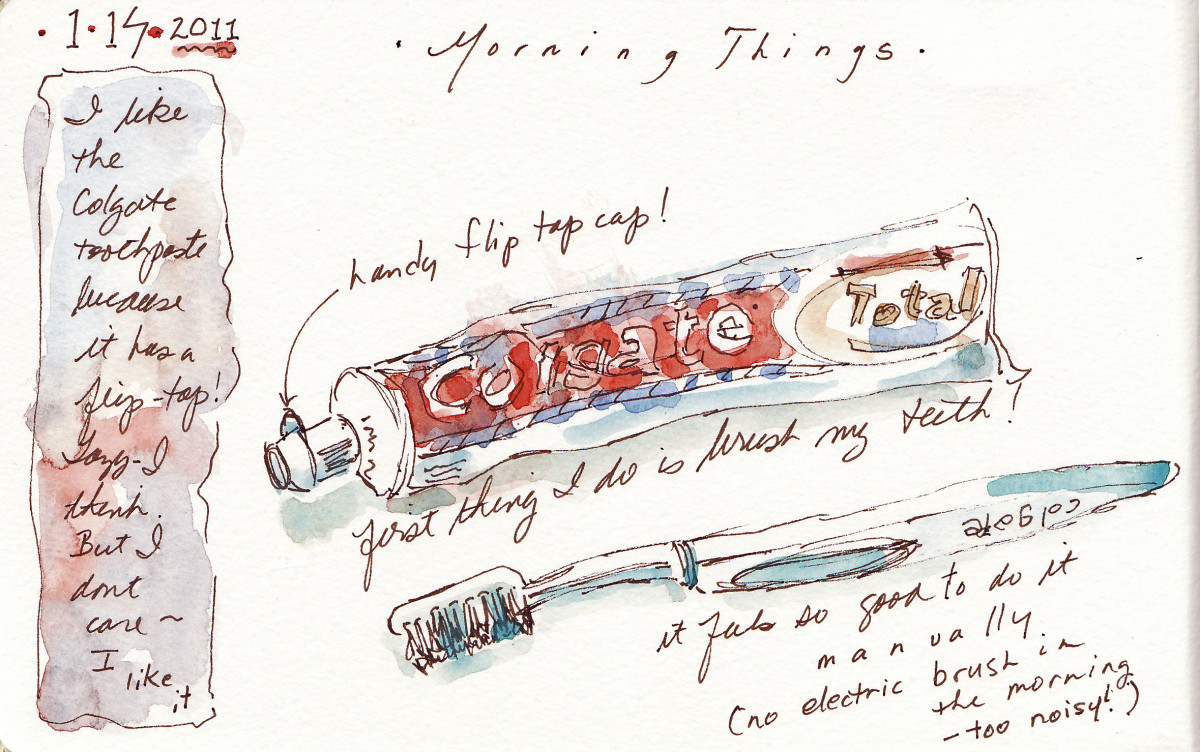 """Page from one of Rosemary's """"recording simple things,"""" journals."""