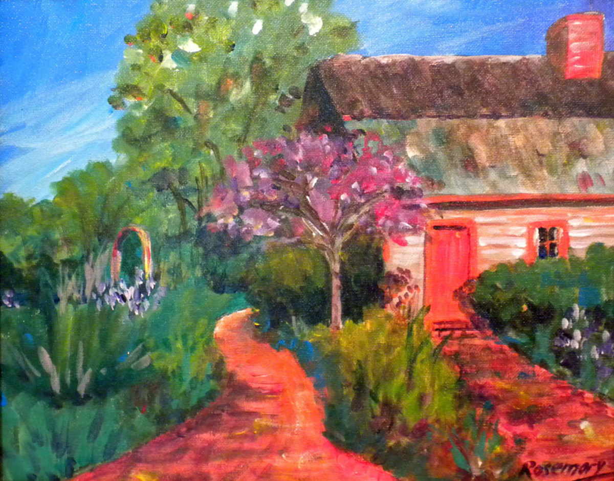 This acrylic painting of the Fisher Martin House in Lewes won honorable mention in Plein Air Coastal Delaware 2012.