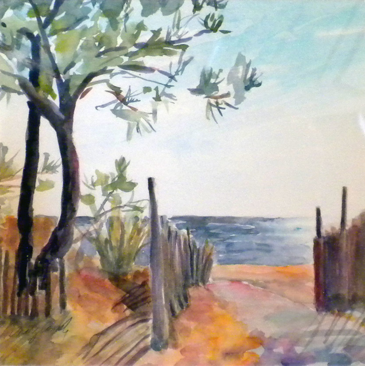 """Rehoboth Beach in Morning."" painted during Plein Air Coastal DE 2012 competition."