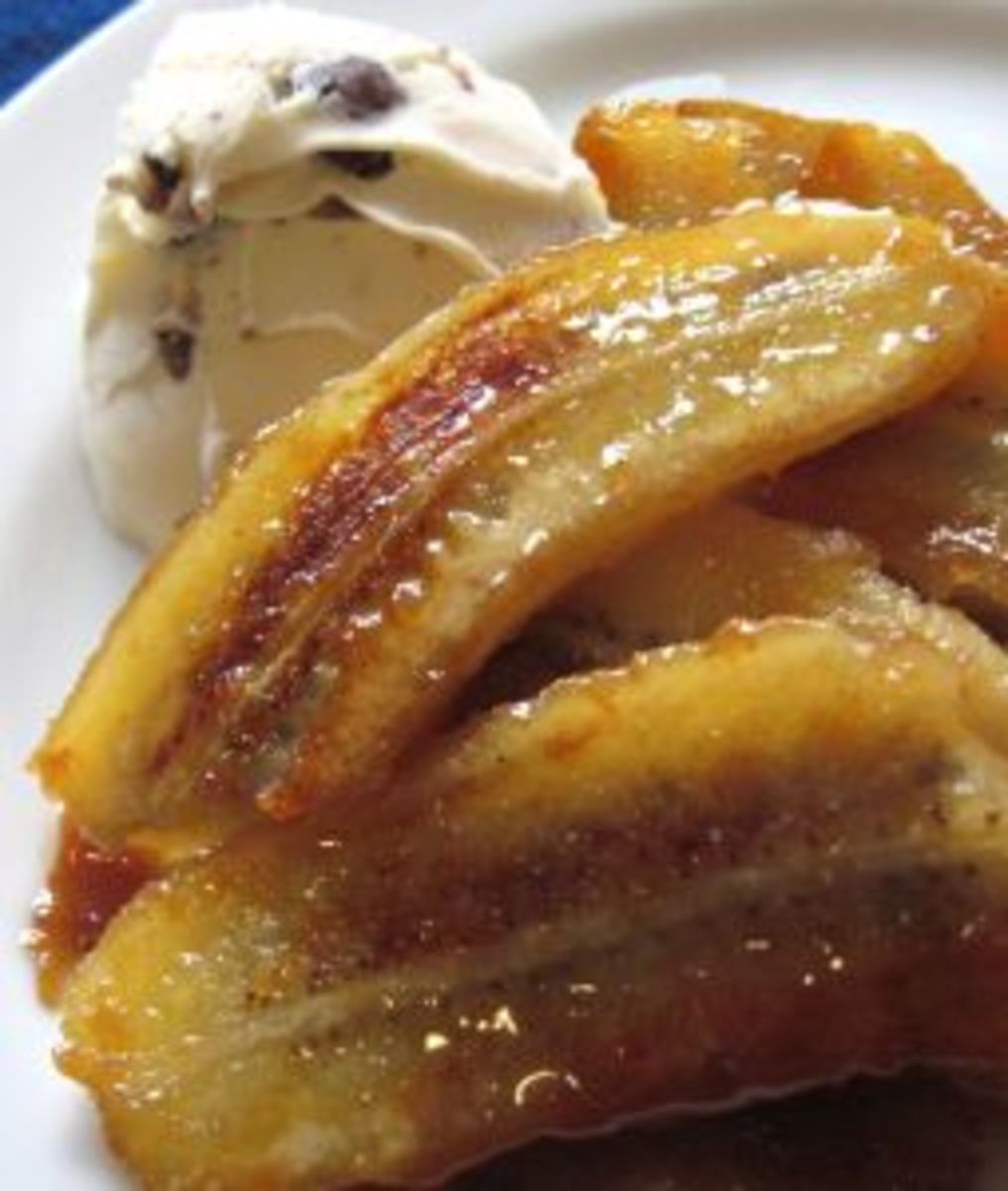 Fried Bananas Dessert Recipe
