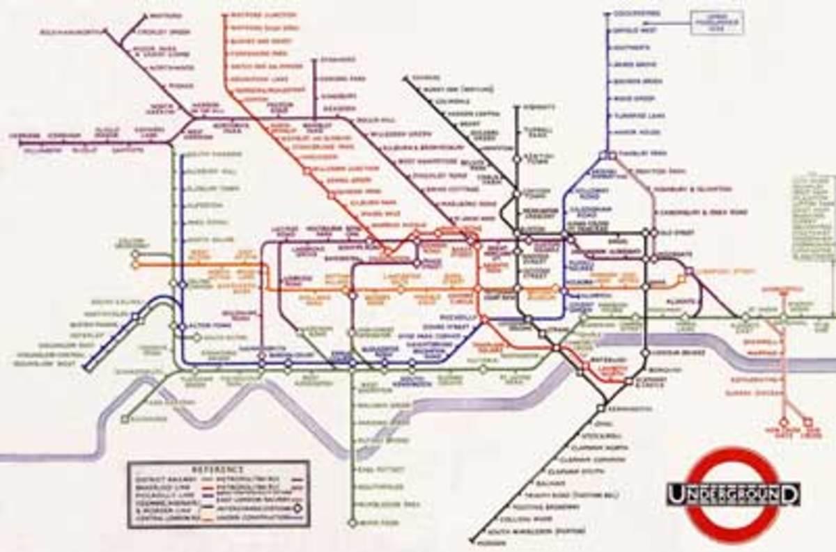The Iconic London Underground Tube Map