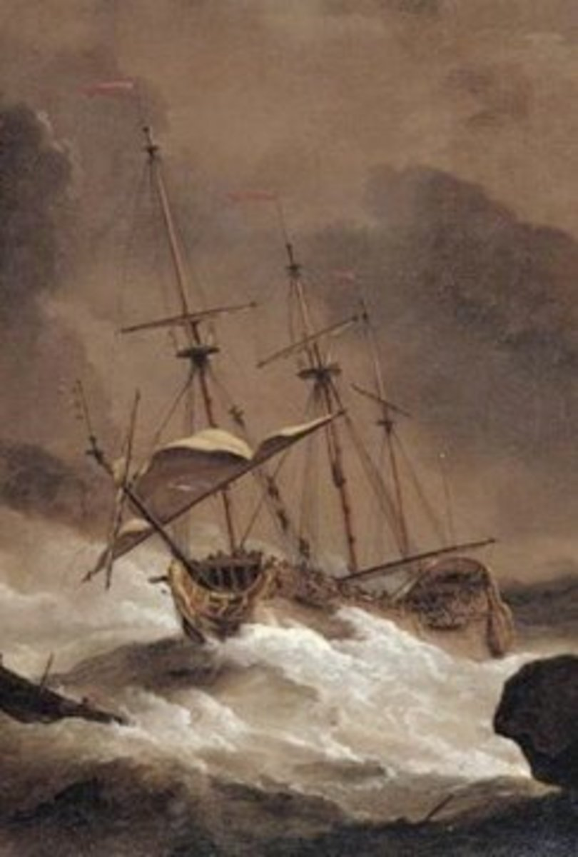 The Henrietta Marie was a merchant ship such as this one and encountered a storm on its last fateful voyage home.
