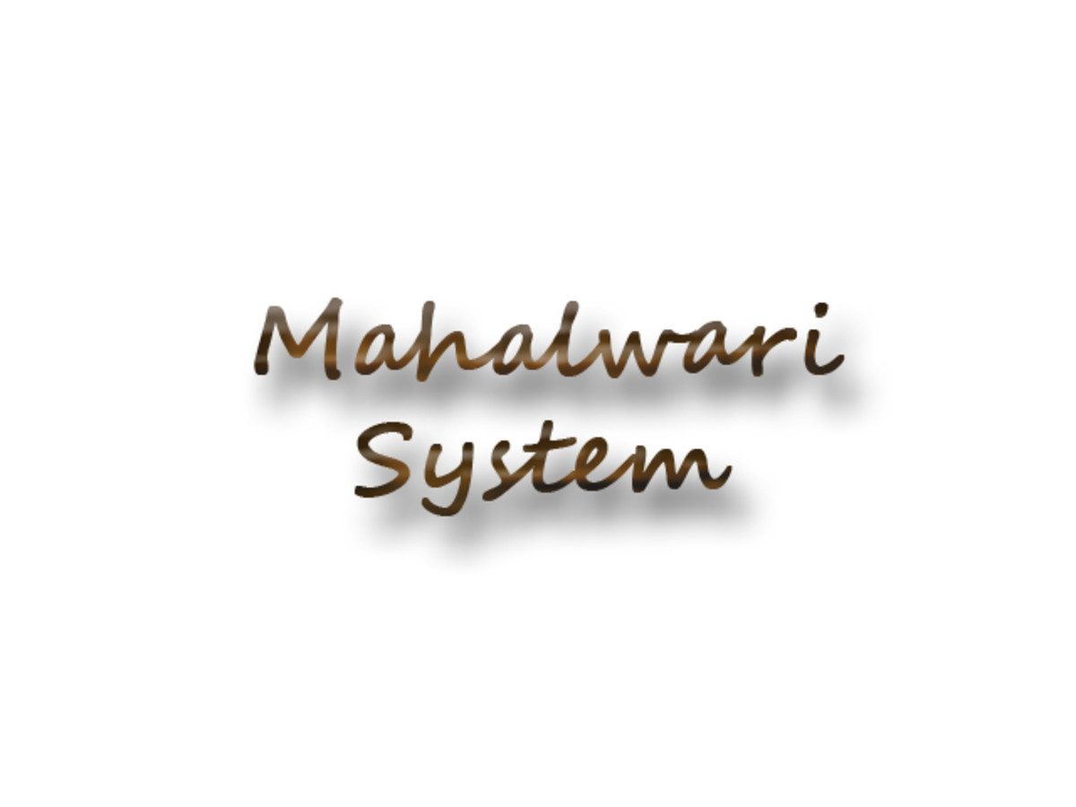 Mahalwari System in India