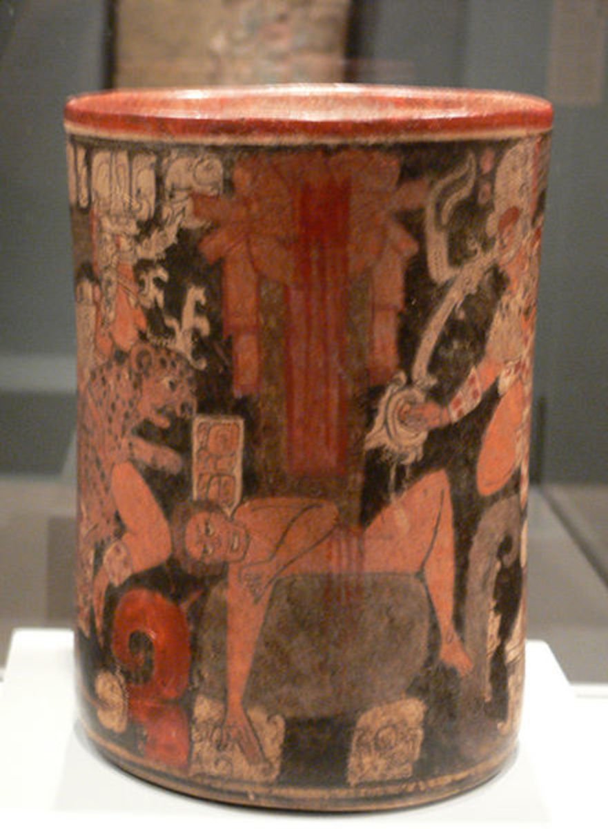 Human sacrifice on a Piece of Pottery