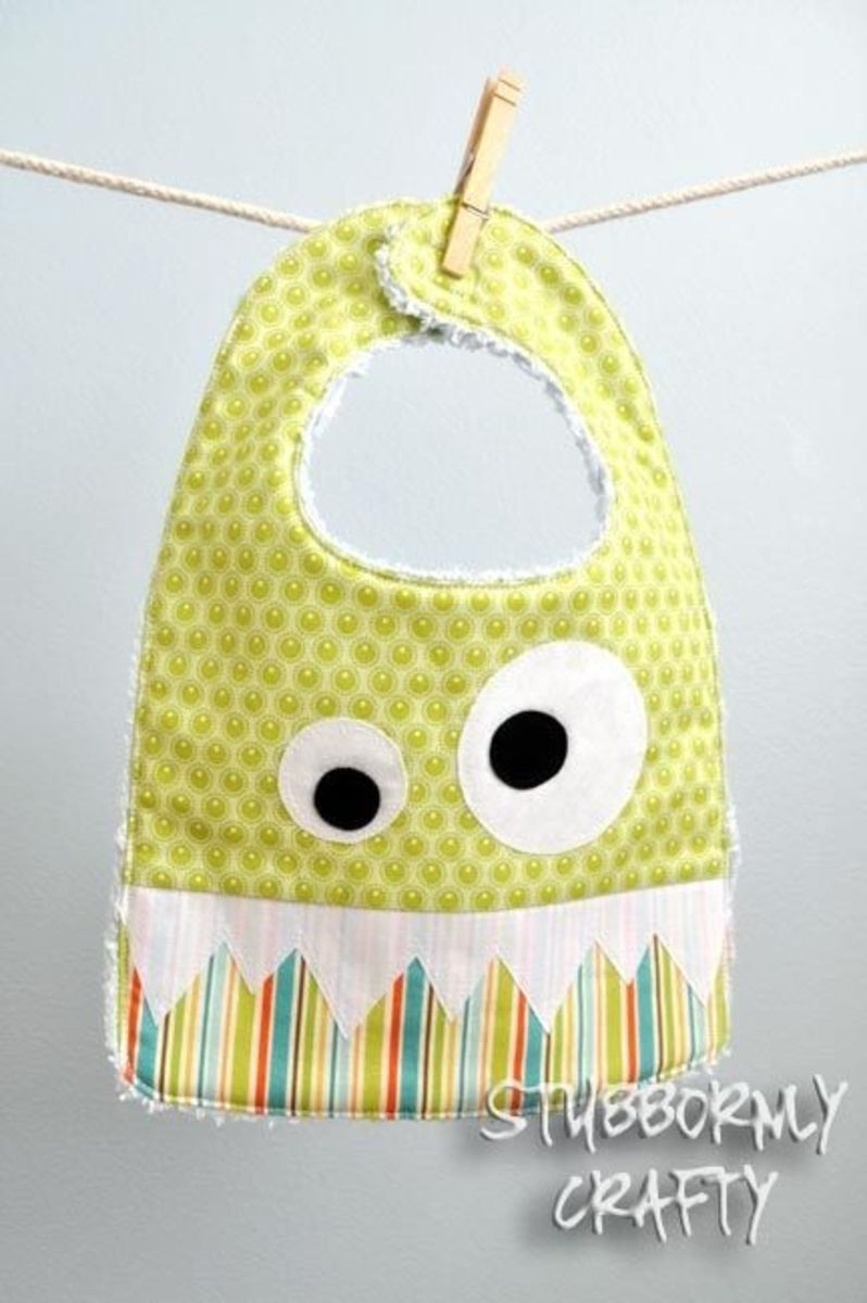 Monster Bib Sewing Pattern