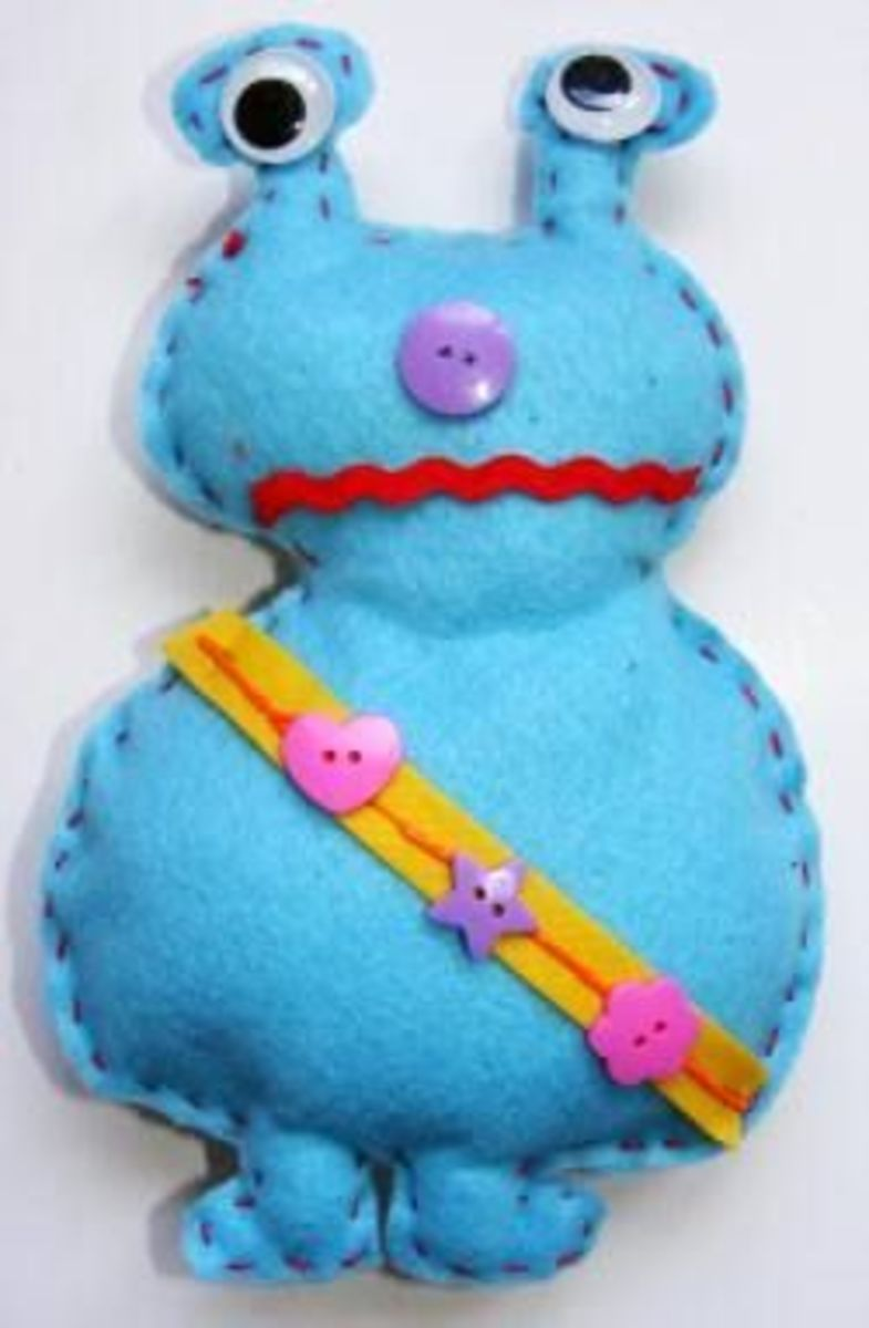 Felt Toy Monster Sewing Pattern