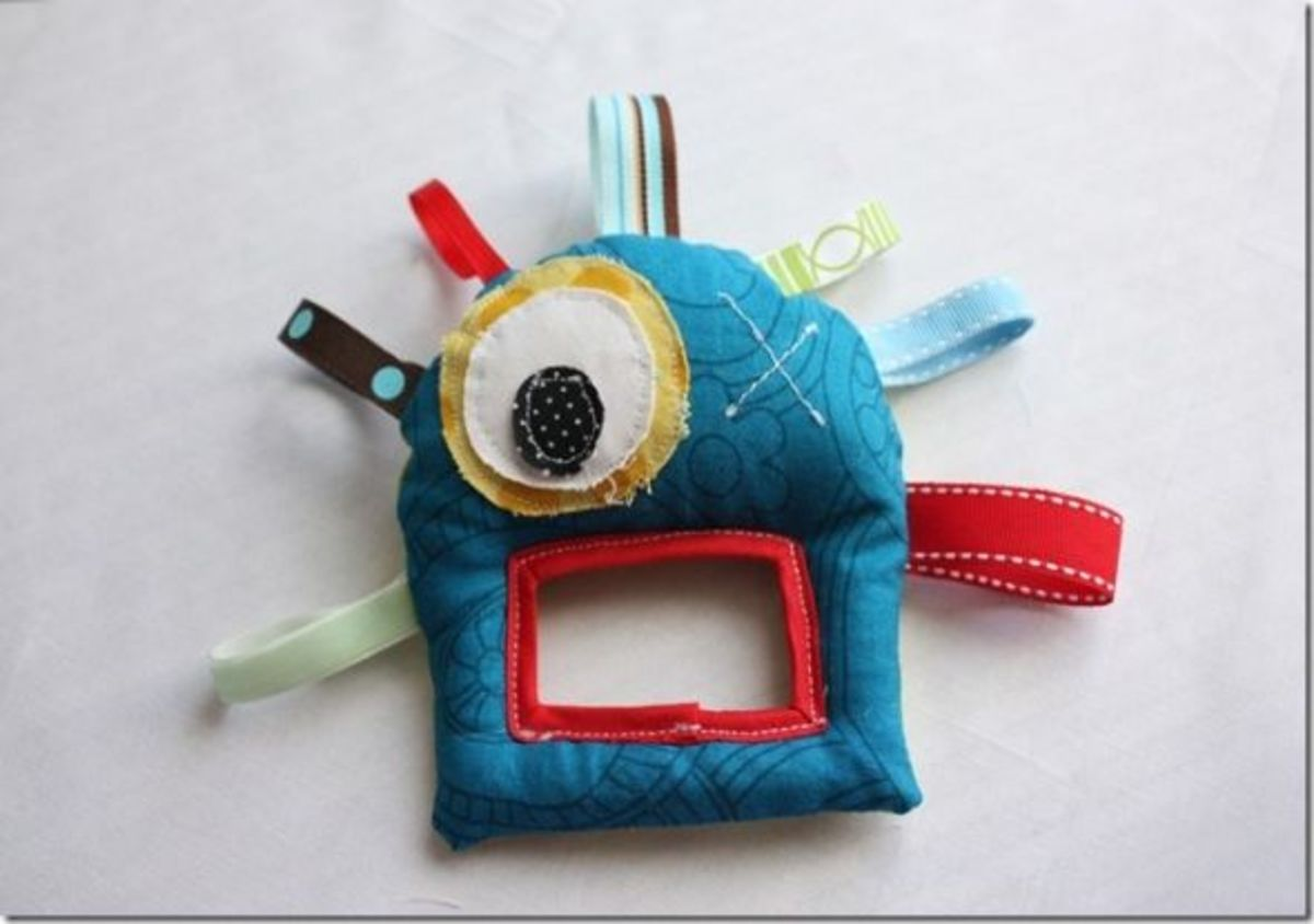 Monster Taggy Baby Toy Sewing Pattern