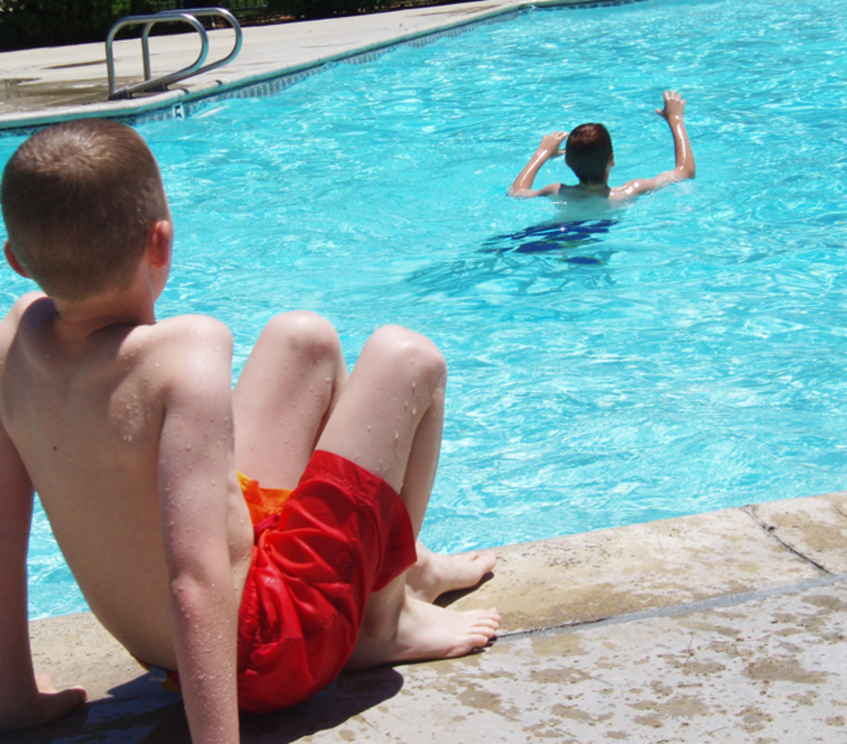 Just big enough and shallow enough for the kids to have fun, a pool of this type will be useful for at least as long as your children are living at home.