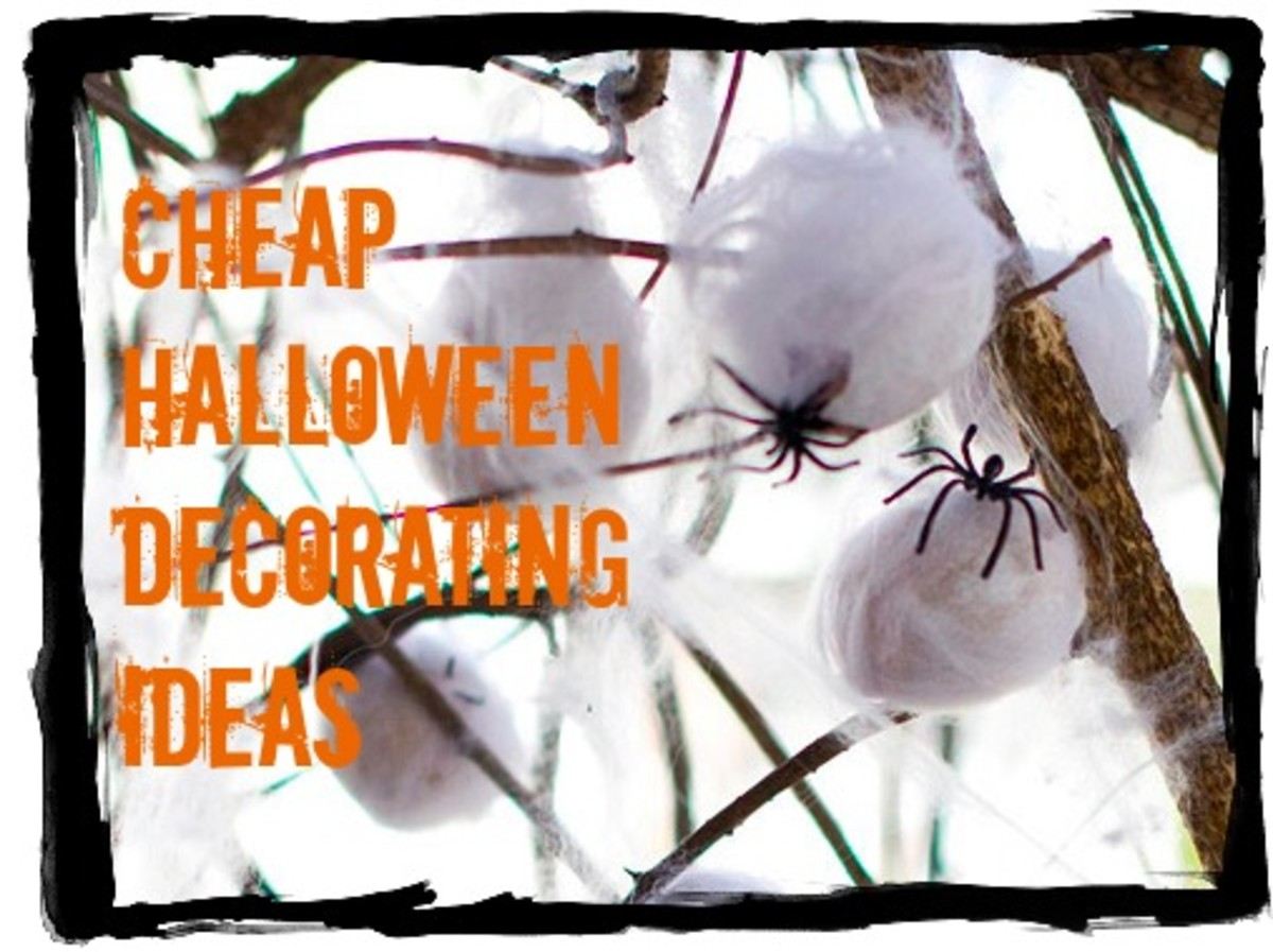 cheap halloween decorations and decorating ideas