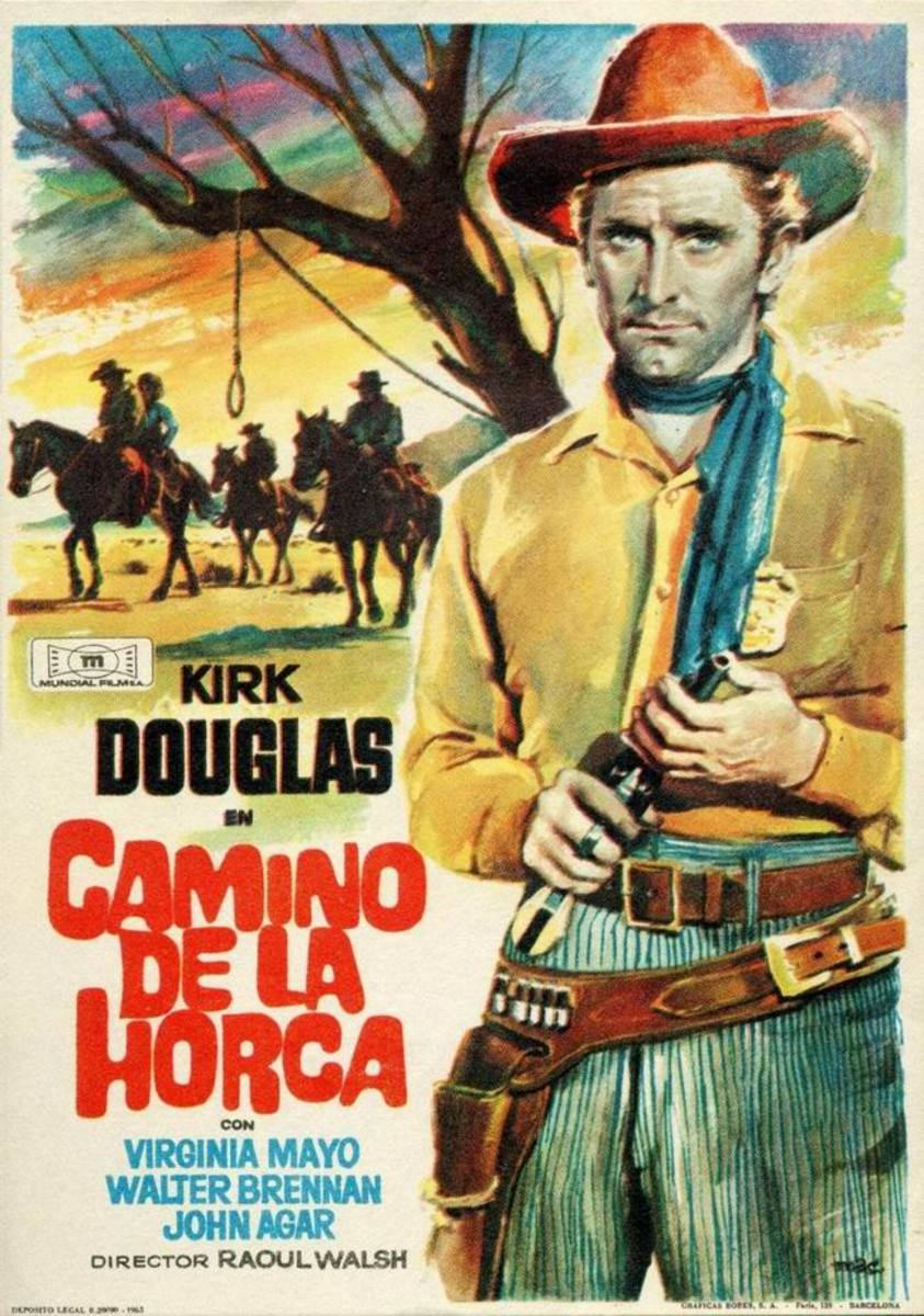 Along the Great Divide (1951) Spanish poster