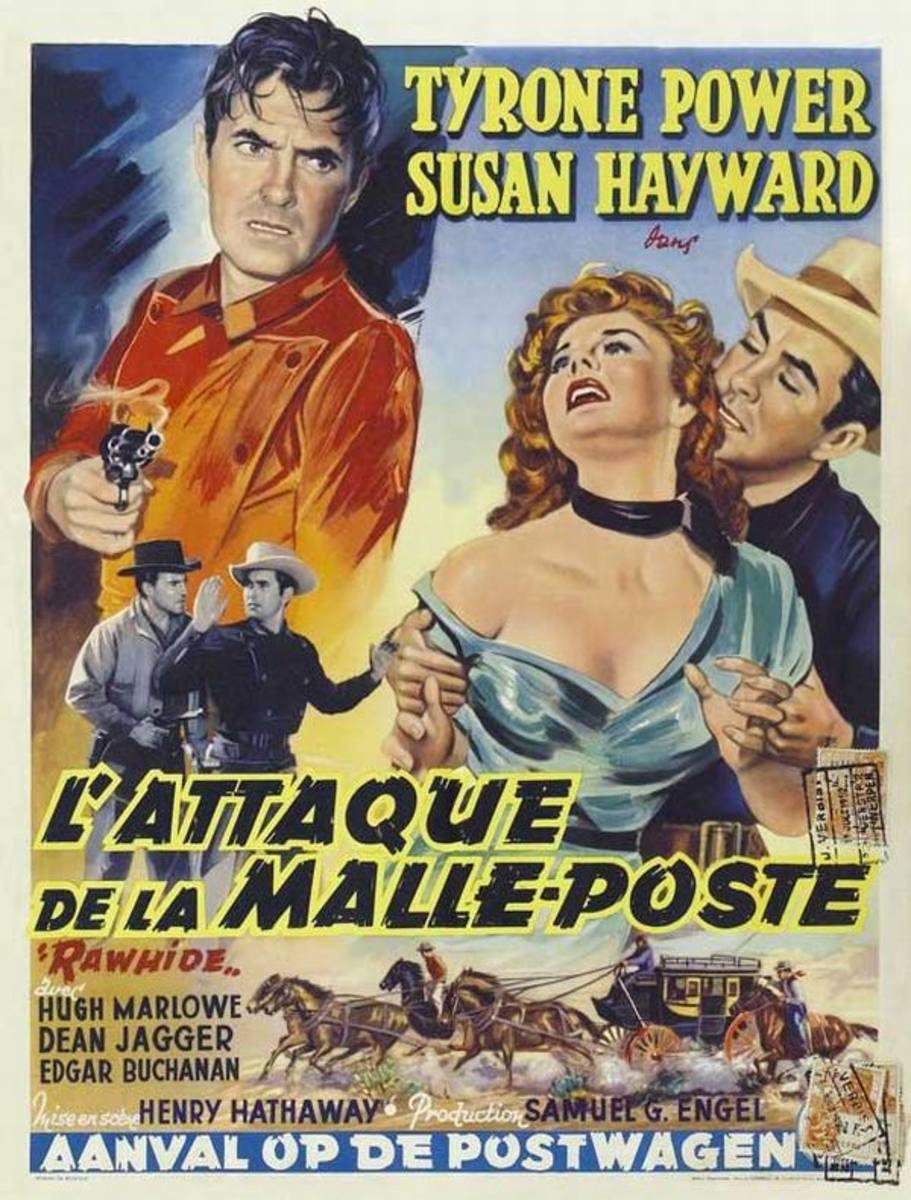 Rawhide (1951) Belgian poster