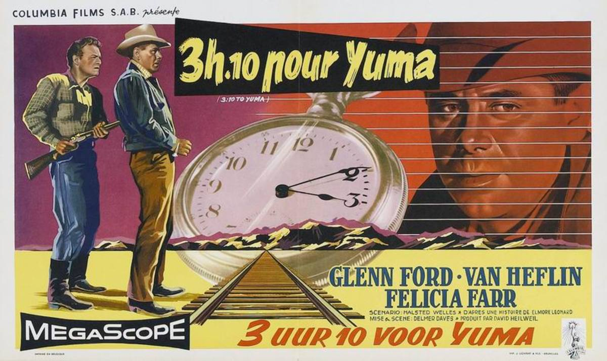3:10 to Yuma (1957) Belgian poster
