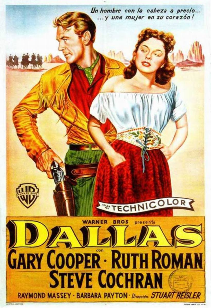 Dallas (1950) Argentinian poster