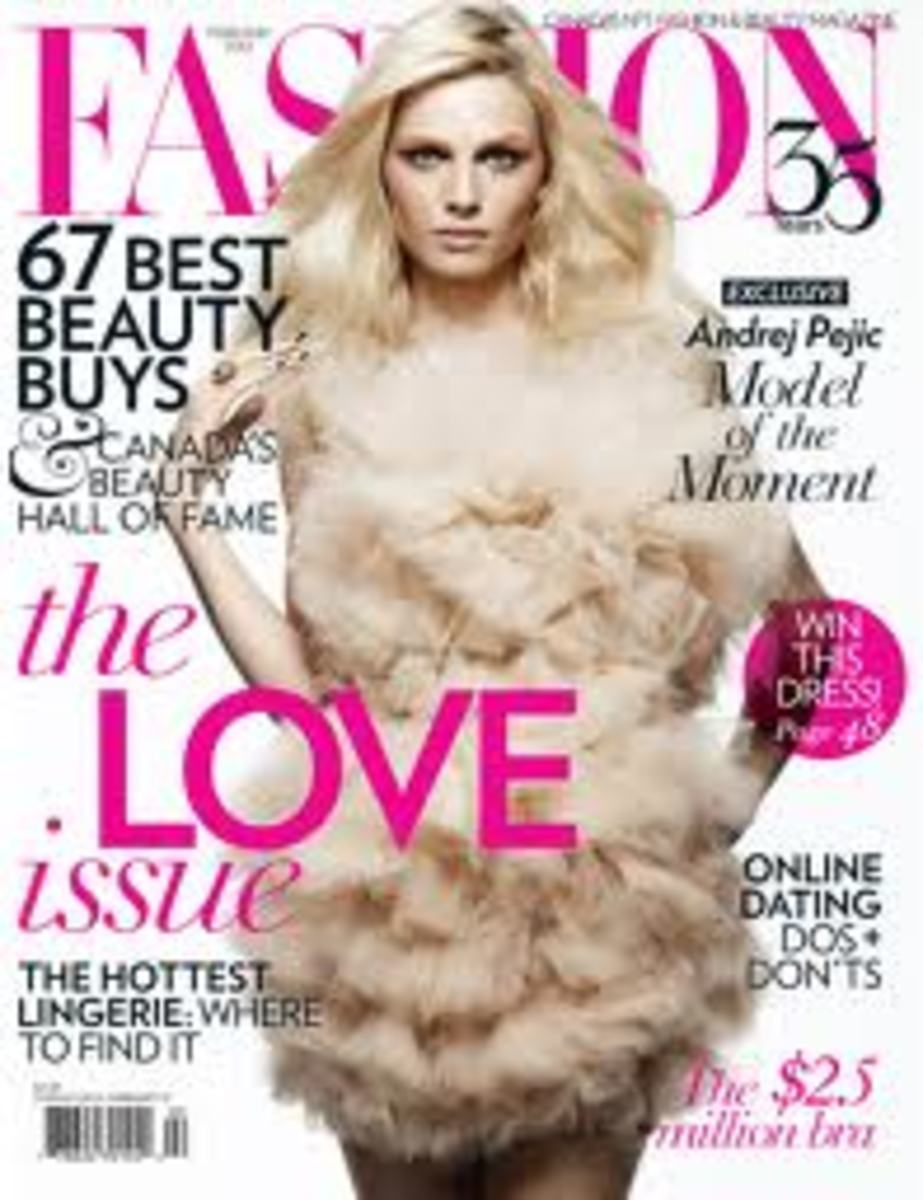 A. Pejic on cover of Fashion magazine