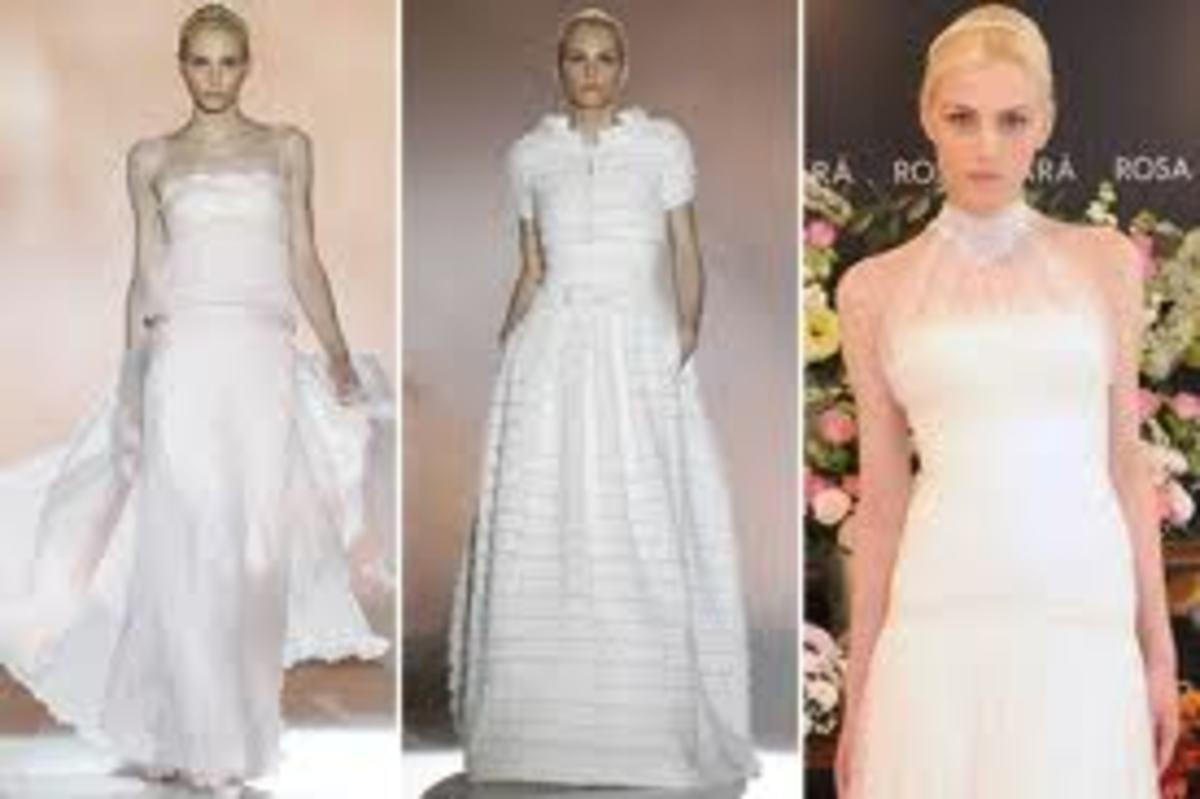 Andrej Pejic modeling Rosa Clara wedding dresses
