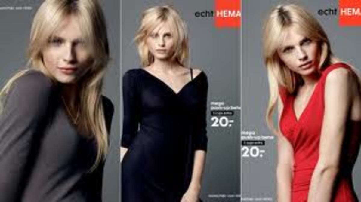 Andrej Pejic modeling push-up bras