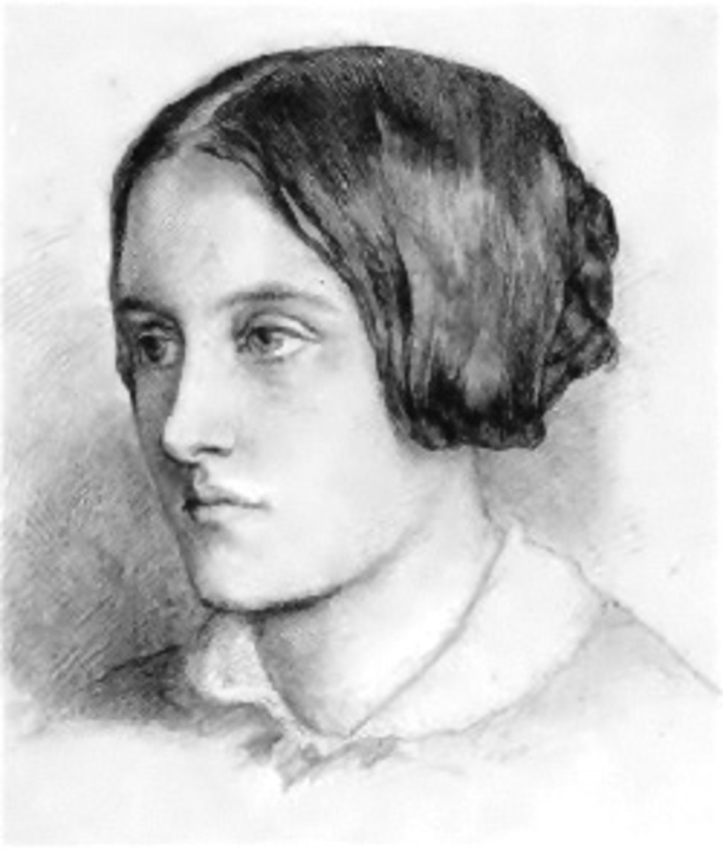 Sketch of Christina Rossetti.