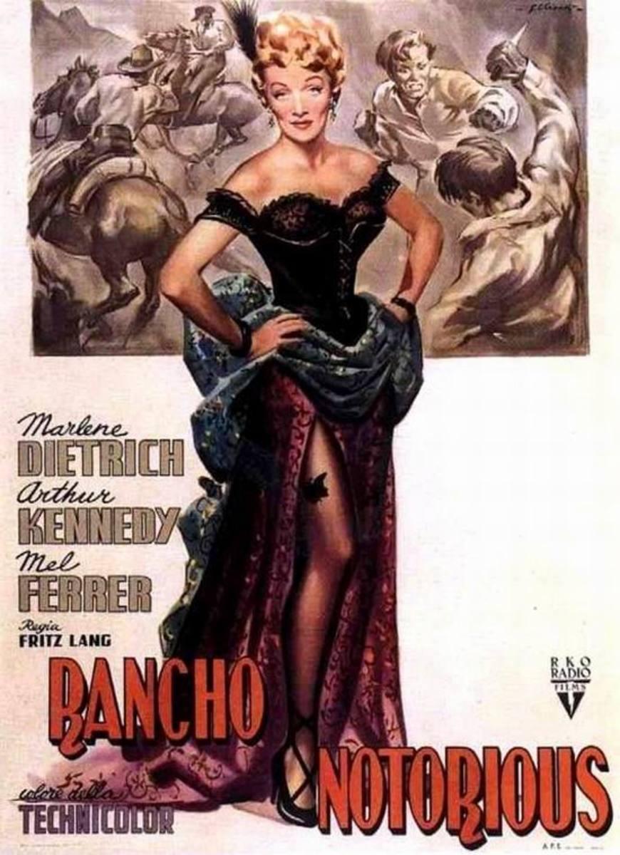 Rancho Notorious (1952) Italian poster