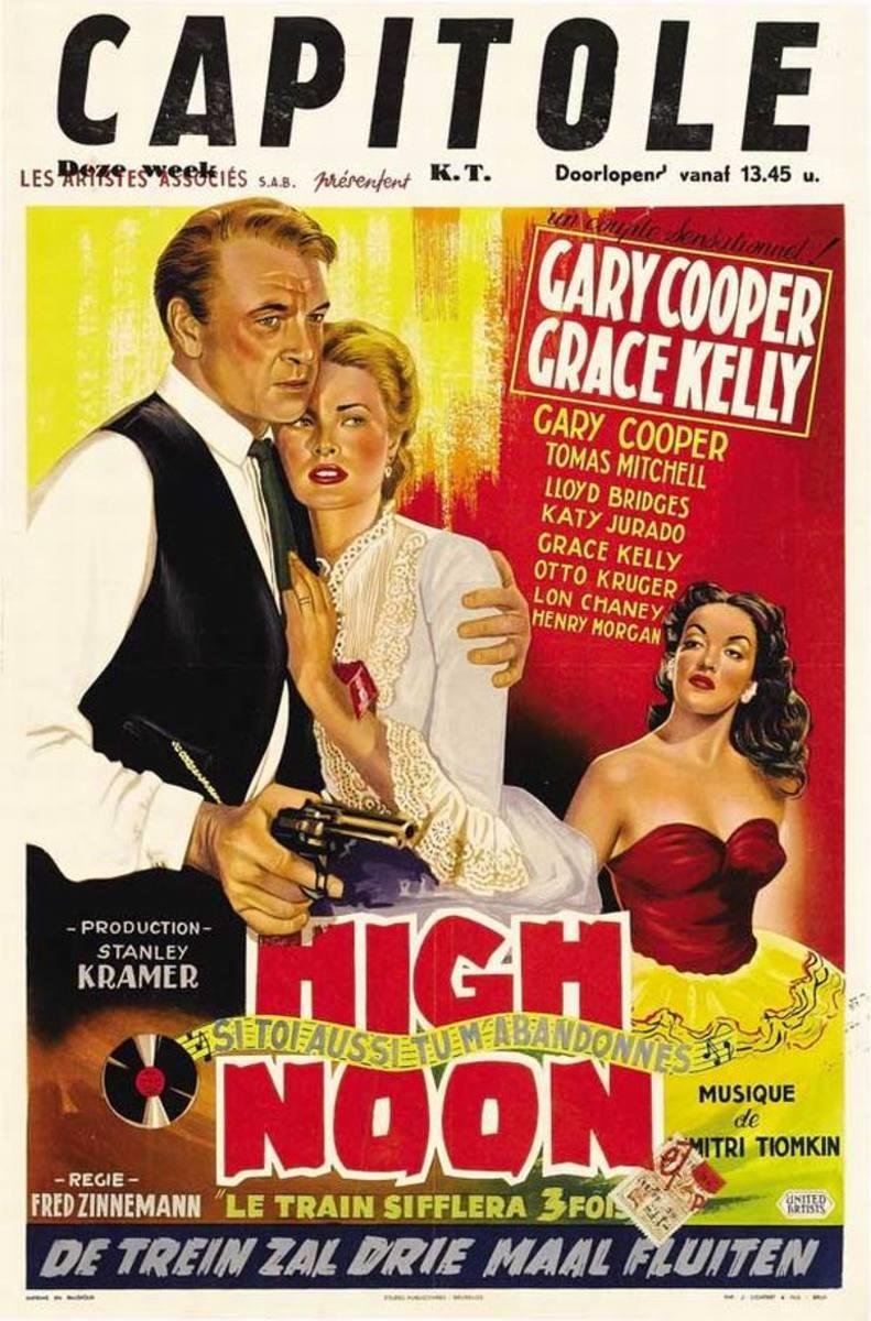 High Noon (1952) Belgian poster