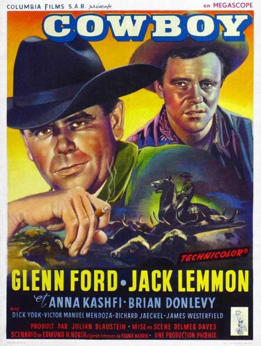 Cowboy (1958) Belgian poster