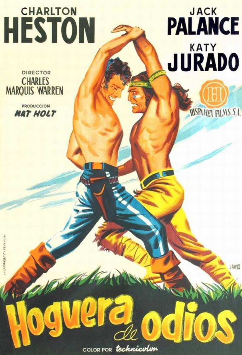 Arrowhead (1953) Spanish poster