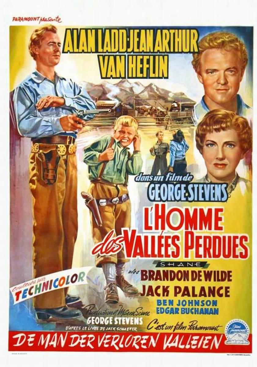 Shane (1953) Belgian poster