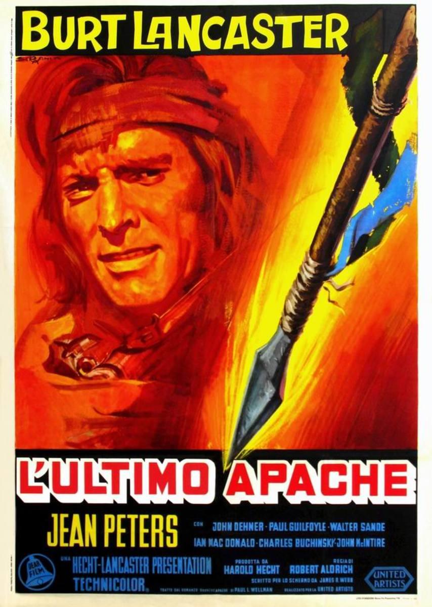 Apache (1954) Italian poster