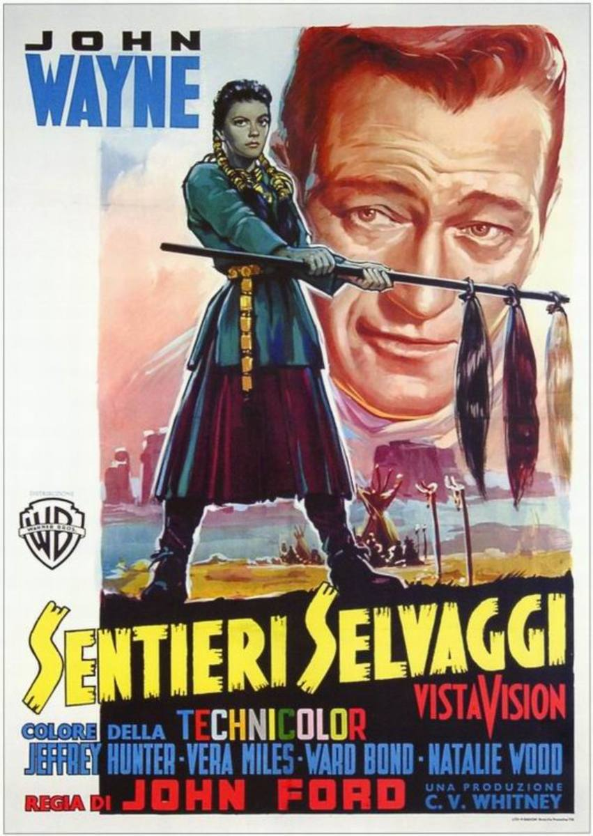 The Searchers (1956) Italian poster