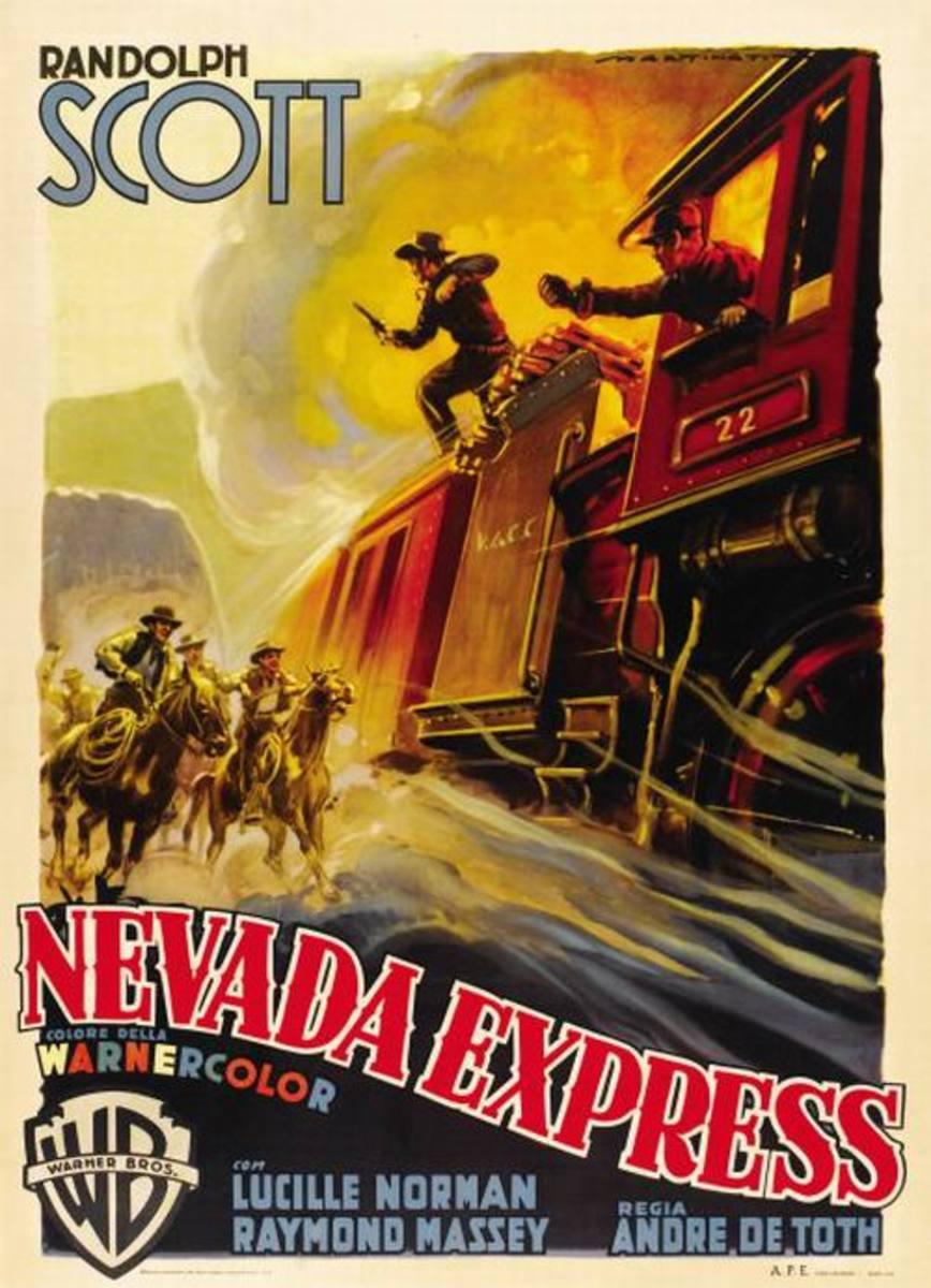 Carson City (1952) Italian poster