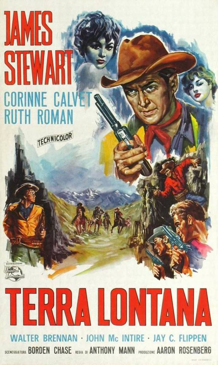 The Far Country (1954) Italian poster