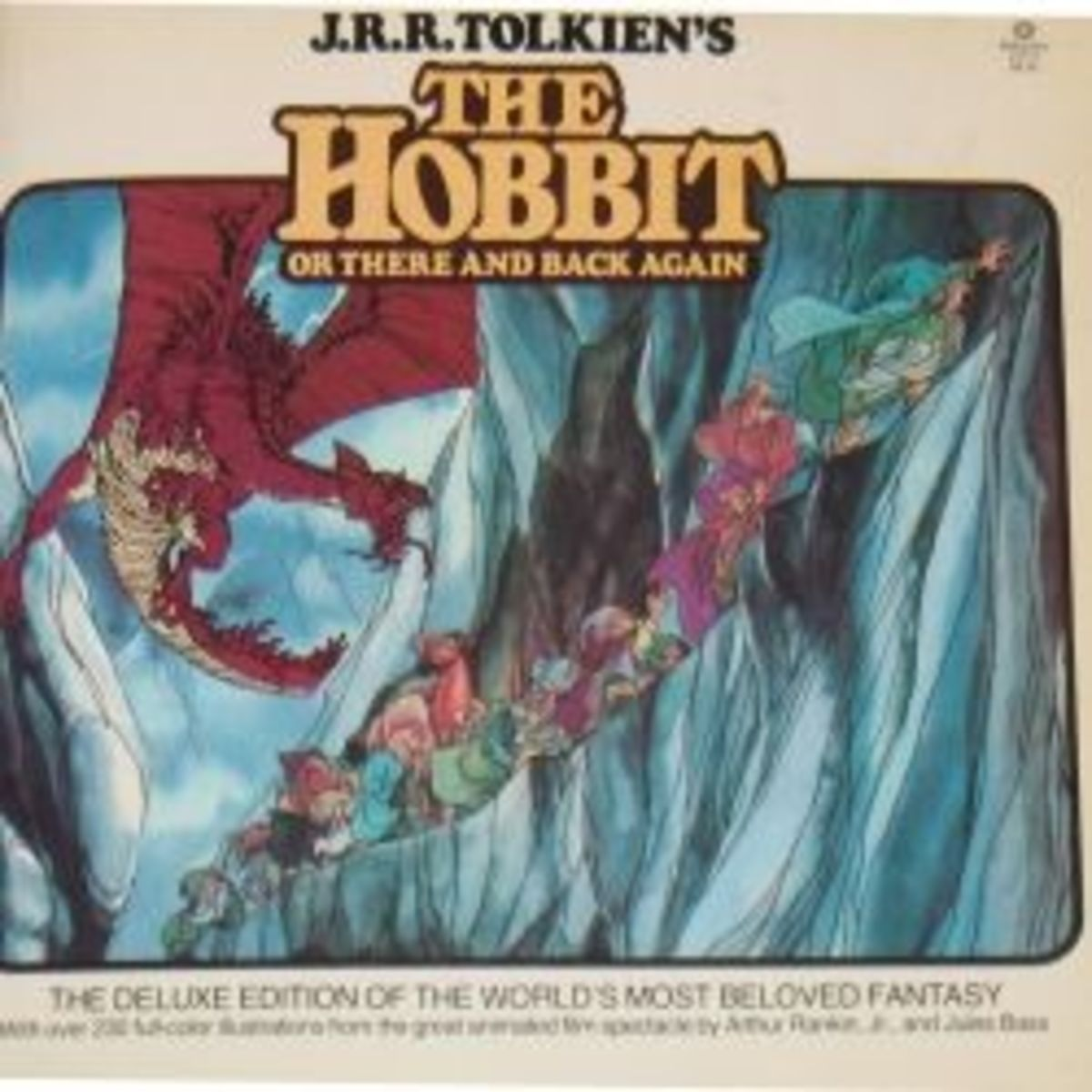 Cover of The Hobbit book, illustrated by Arthur Rankin, Jr. and Jules Bass.