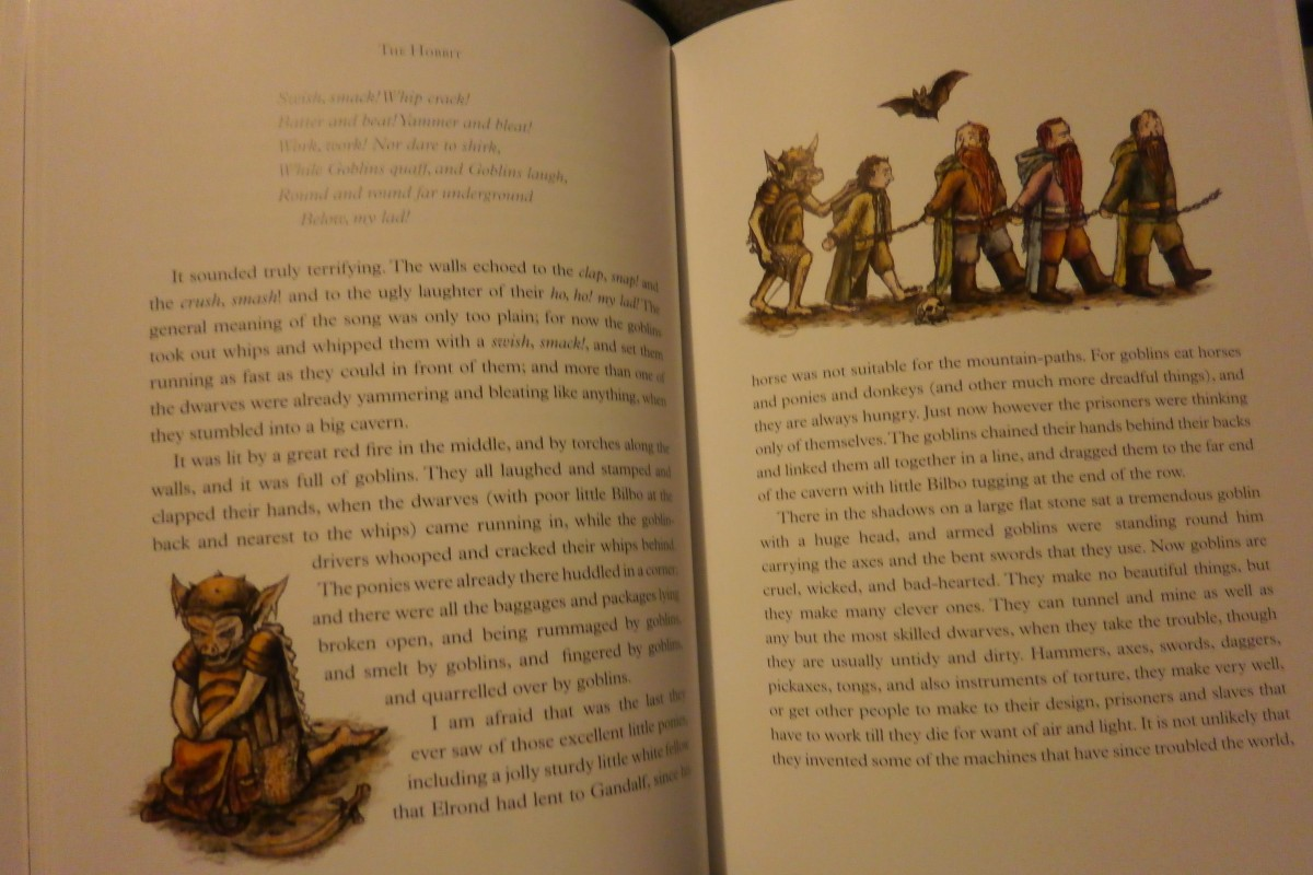Our beautiful, new, hardcover copy of The Hobbit, illustrated by Jemima Catlin.
