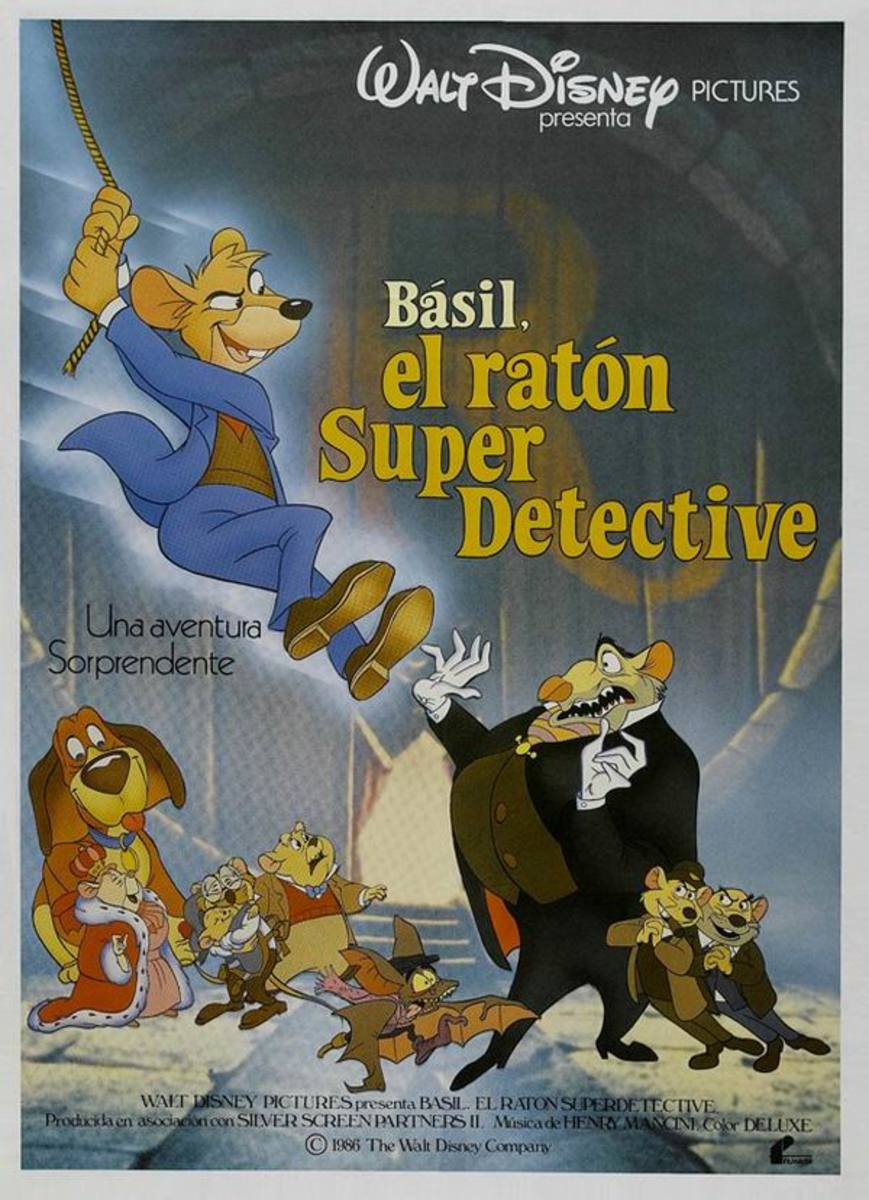The Great Mouse Detective (1986) Spanish poster