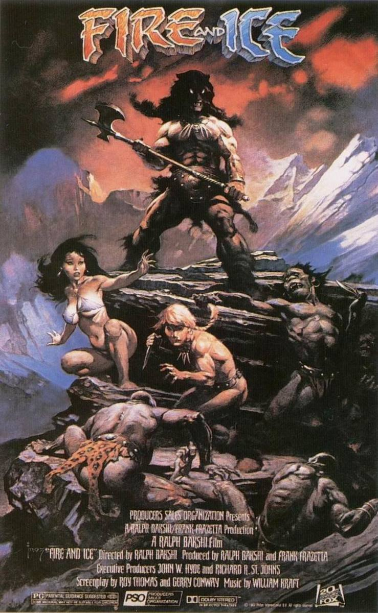 Fire & Ice (1983) art by Frank Frazetta