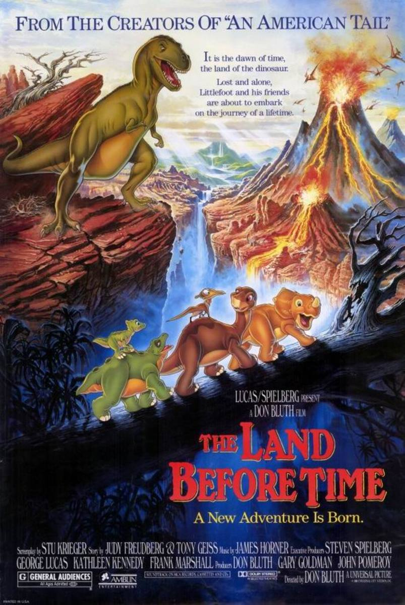 The Land Before Time (1988) art by Daniel Gouzee