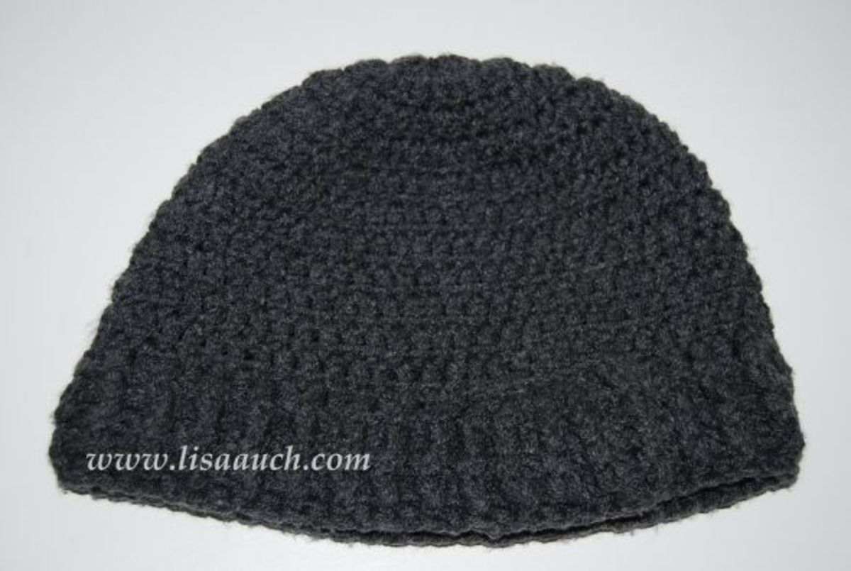 mens crochet hat pattern (a free crochet pattern from LisaAuch)