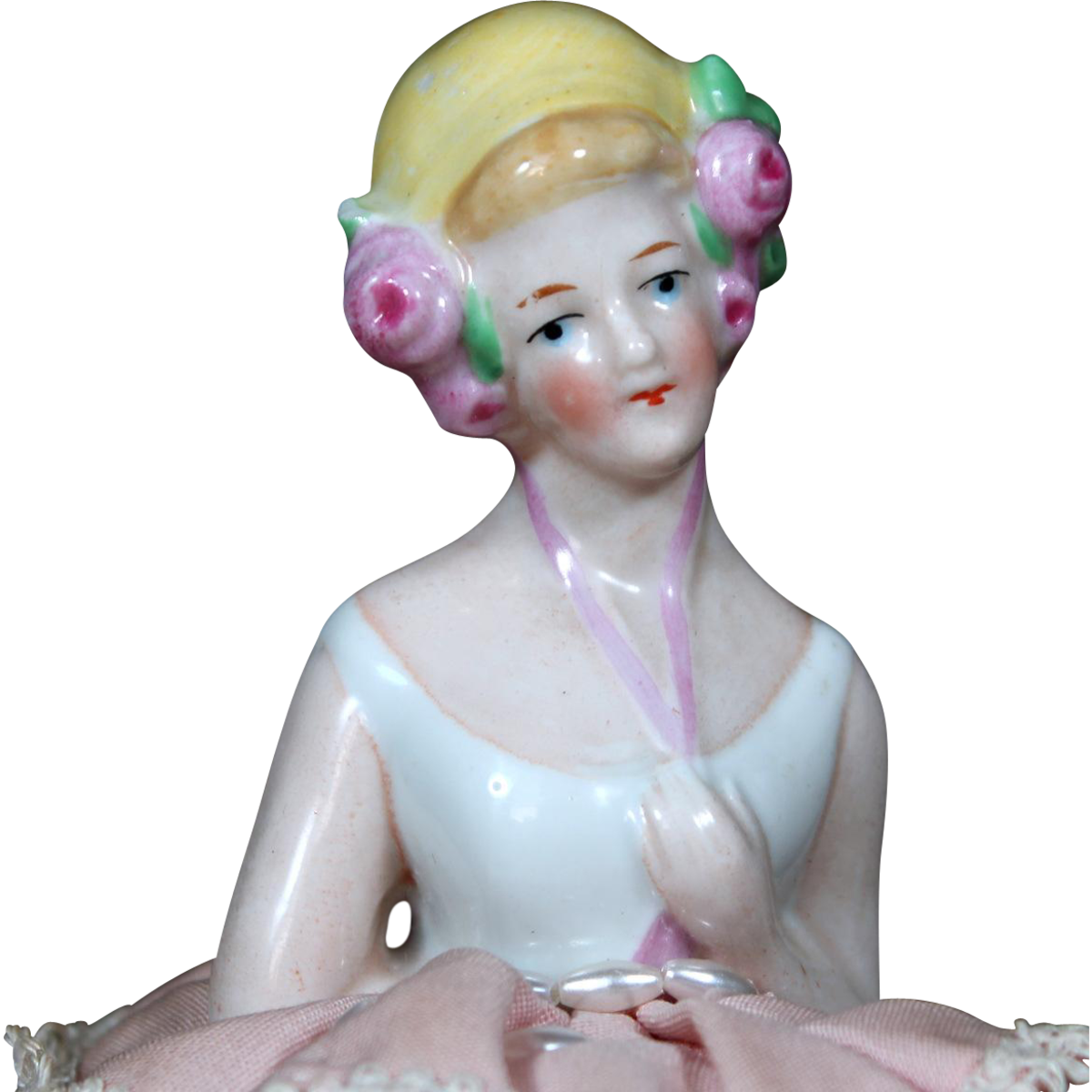 Antique Half Dolls Are Hard Working Doll