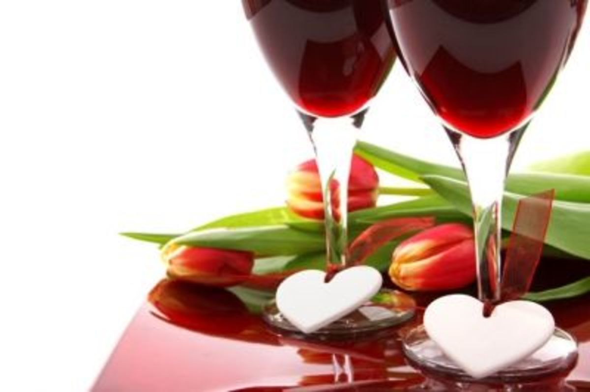 While you're waiting share some wine with your sweety