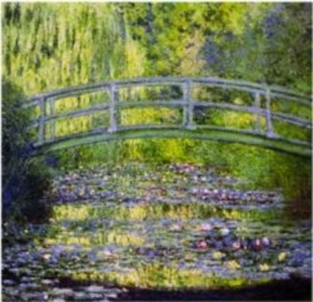 Waterlily Pond with Japanese Bridge by Claude Monet is available in a variety of sizes and formats