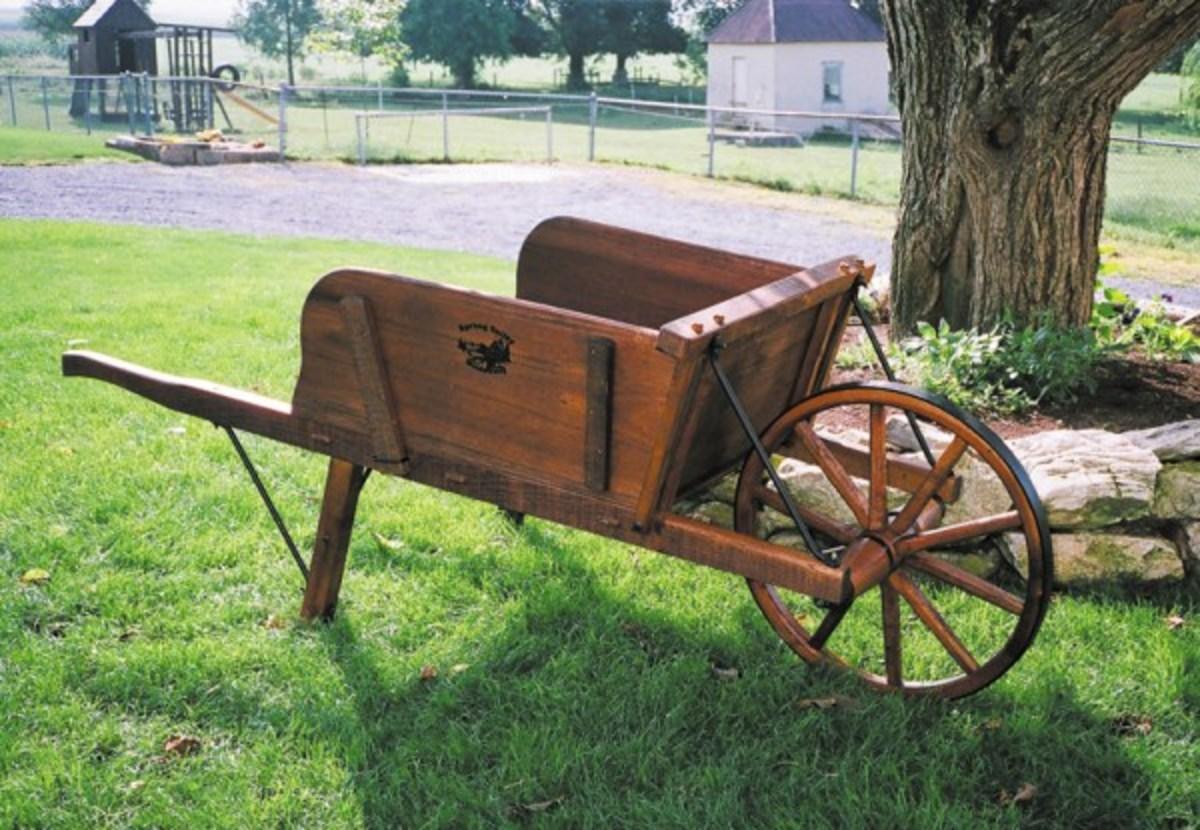 Reproduction Wooden Wheelbarrows