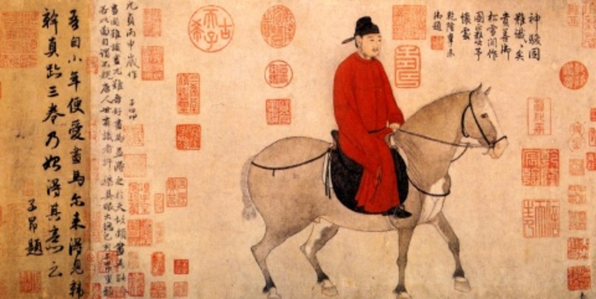 """Mounted Official"" by Zhao Mengfu (1254-1322)."