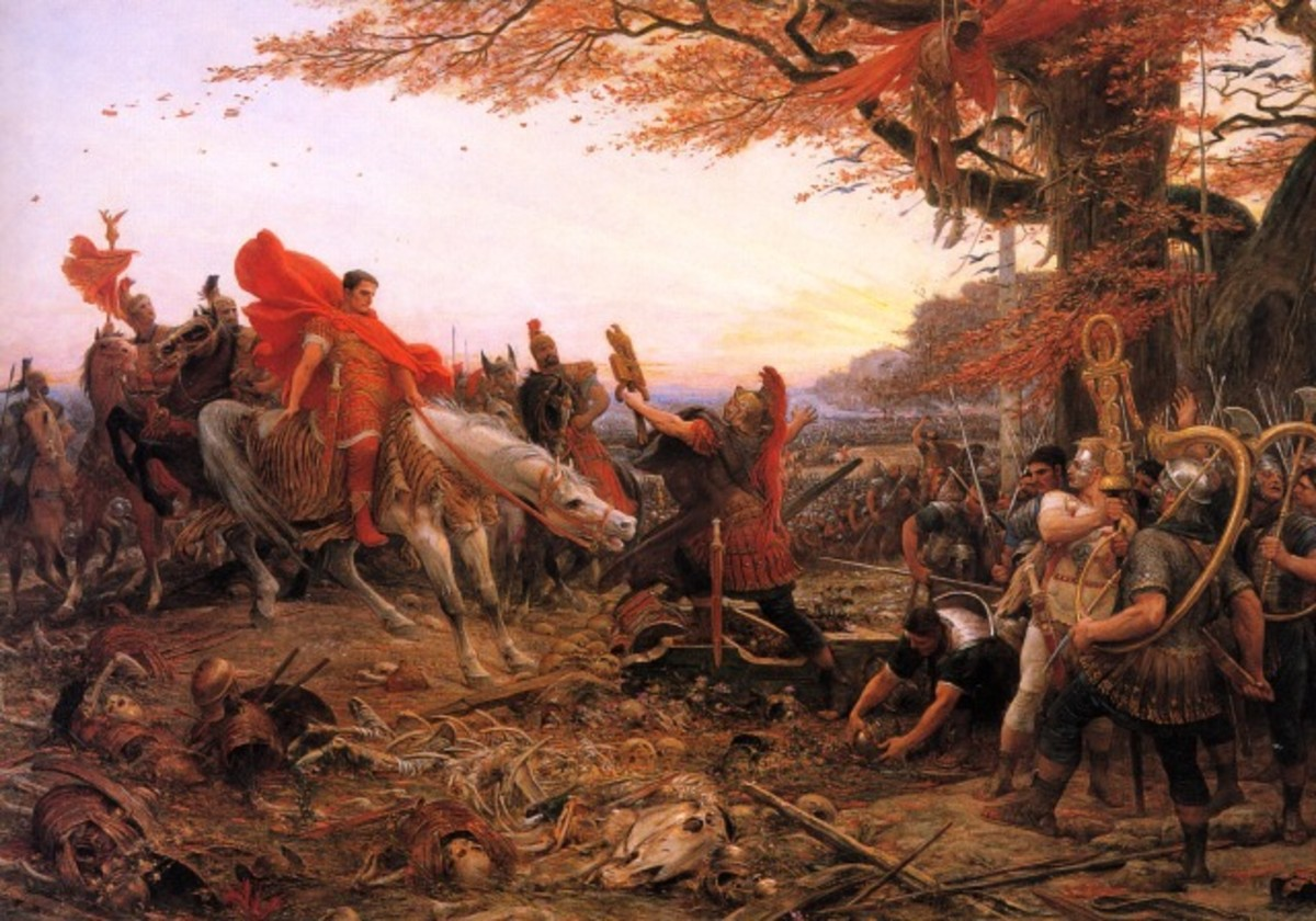 """""""Germanicus In Front of the Disaster of Varus"""" by Lionel Royer (1852-1926)."""