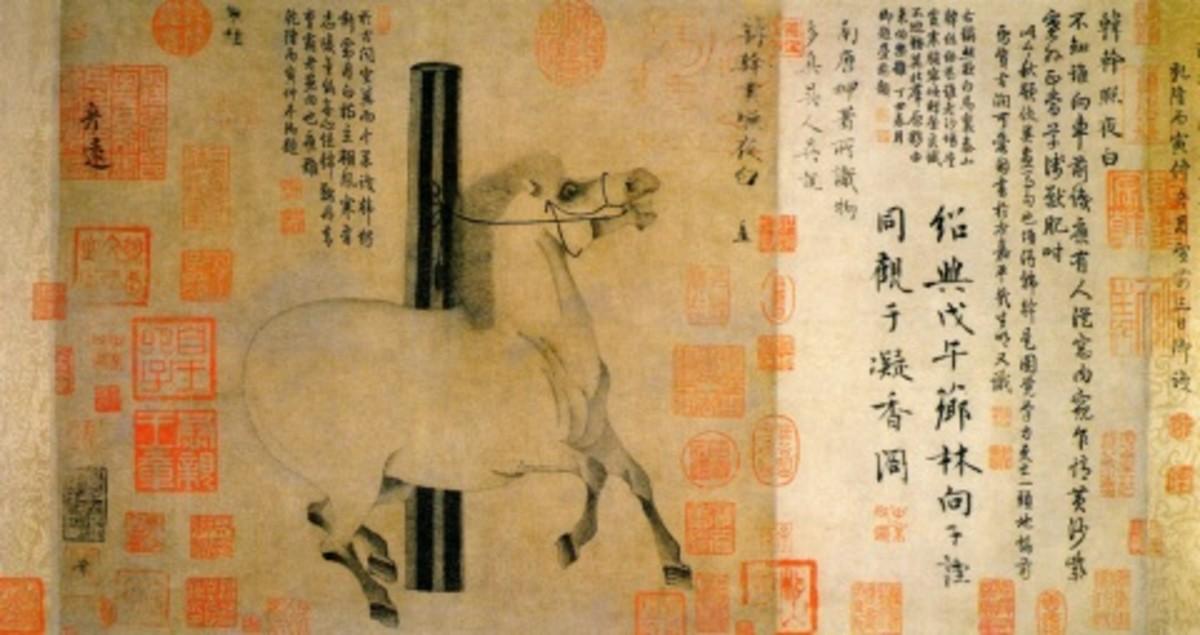 """Night-Shining White"" by Han Gan (about 720-780)."