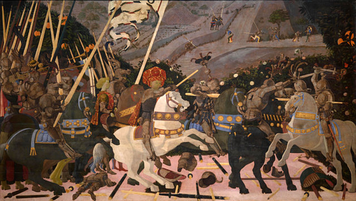 """""""The Battle of San Romano"""" by Paolo Uccello (1397-1475)."""