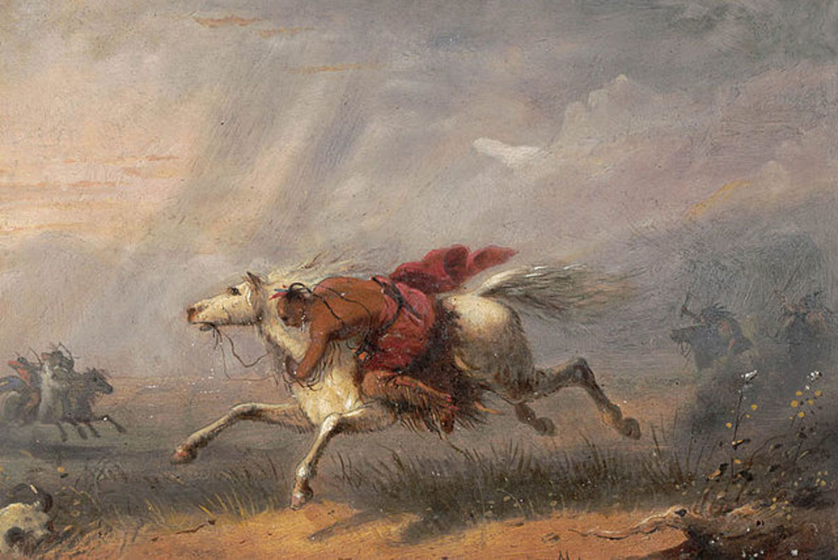 """""""War Path"""" by Alfred Jacob Miller (1810-1874)."""