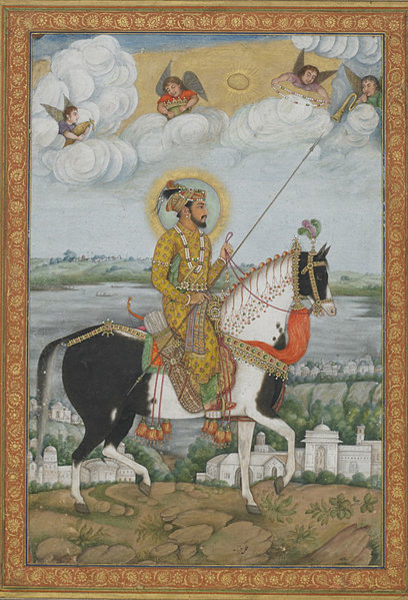 An early 19th century painting of the Mughal emperor Shah Jahan by Mughal artist Govardhan.