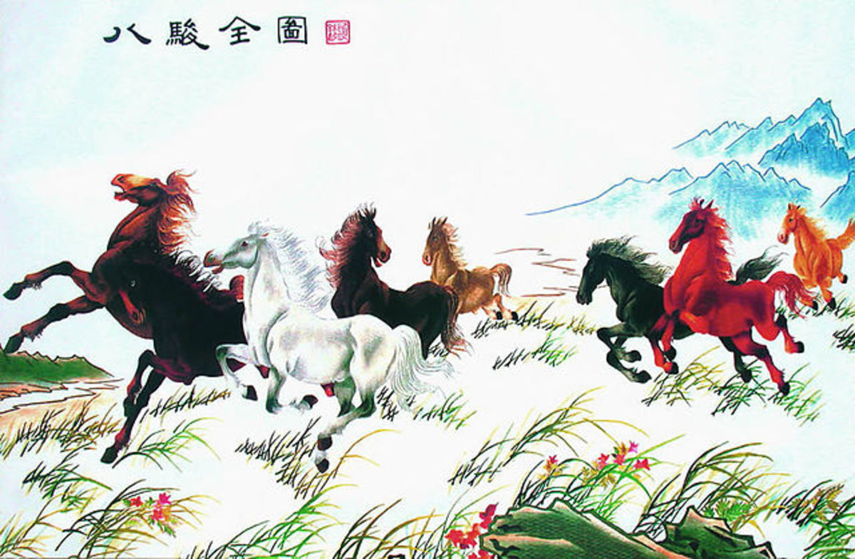 """The Eight Horses"" by Xu Beihong (1895-1953)."