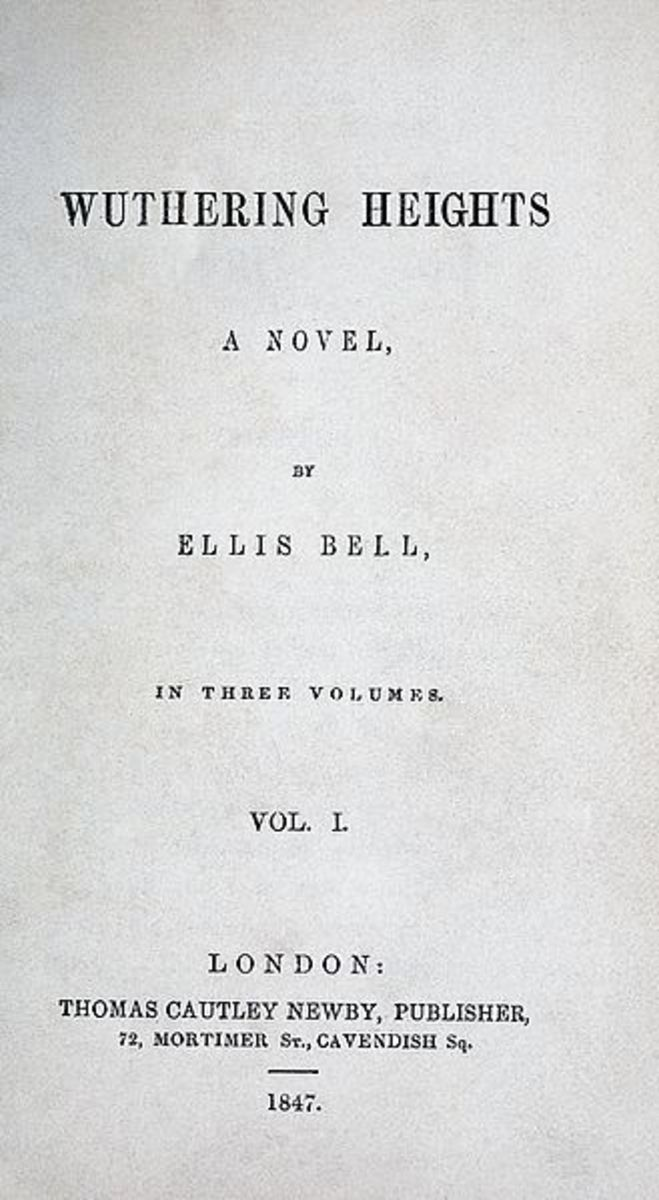 First edition publication of Wuthering Heights.