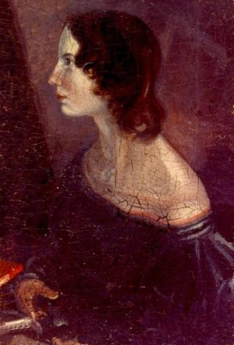 Portrait of Emily Bronte, English novelist.