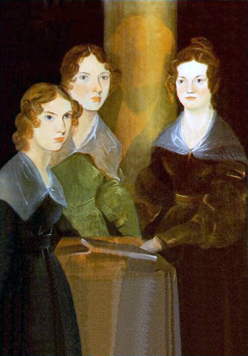 Portrait of the three Bronte sisters, Anne, Emily and Charlotte.  Painted by their brother.